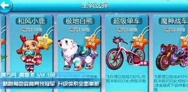 天天酷跑超级单车角色/宠物/精灵搭配推荐