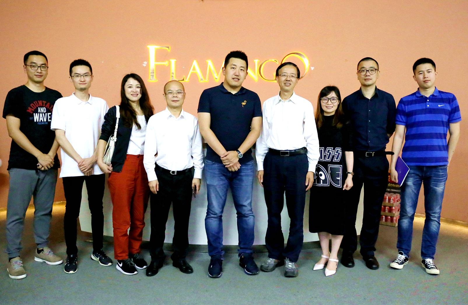 广州市科技创新委员会王桂林主任一行莅临火烈鸟网络参观调研