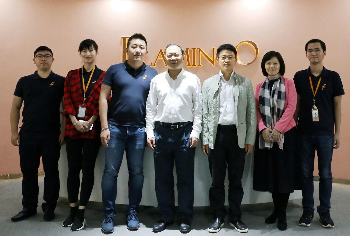 广州市委常委、统战部部长卢一先一行莅临火烈鸟网络调研